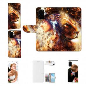 Samsung Galaxy A41 Handy Hülle mit Bild Druck Löwe Indianerin Porträt