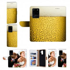 Samsung Galaxy S20 Ultra Handy Hülle mit Fotodruck Bier Etui