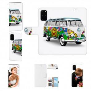Handy Hülle mit Bilddruck Hippie Bus für Samsung Galaxy S20 Etui