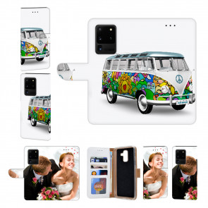 Handy Hülle mit Bilddruck Hippie Bus für Samsung Galaxy S21 Ultra
