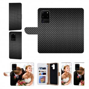 Samsung Galaxy S20 Ultra Handy Hülle mit Fotodruck Carbon Optik