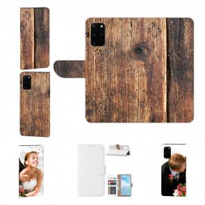 Samsung Galaxy S20 Plus Handy Hülle mit Fotodruck HolzOptik Etui