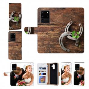 Samsung Galaxy S20 Ultra Handy Hülle mit Holz hufeisen Fotodruck