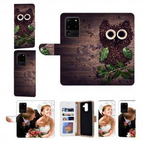 Samsung Galaxy S20 Ultra Handy Hülle mit Kaffee Eule Fotodruck