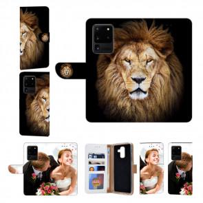 Handyhülle Tasche mit Fotodruck Löwe für Samsung Galaxy S20 Ultra