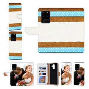 Samsung Galaxy S21 Ultra Handy Hülle mit Muster Foto Namendruck