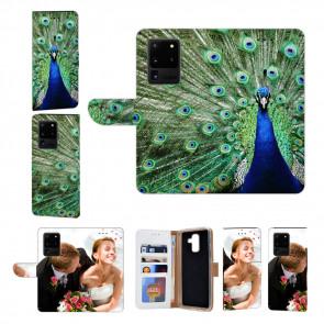 Samsung Galaxy S20 Ultra Schutzhülle Handy Hülle mit Fotodruck Pfau