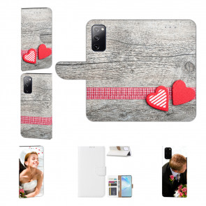 Personalisierte Handyhülle mit Herzen auf Holz Bilddruck für Samsung Galaxy A52 (5G)