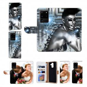 Samsung Galaxy S21 Ultra Handy Hülle mit Robot Girl Fotodruck