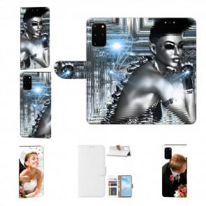 Handy Hülle mit Bilddruck Robot Girl für Samsung Galaxy S20 Etui