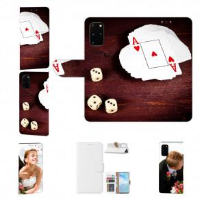 Samsung Galaxy A51 Handy Tasche mit Bild Druck Spielkarten-Würfel