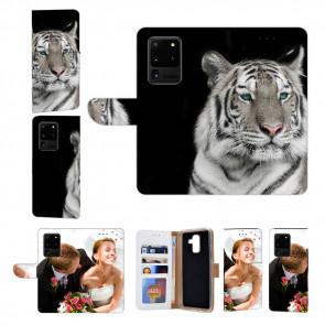 Samsung Galaxy S20 Ultra Handyhülle Tasche mit Tiger Text Fotodruck