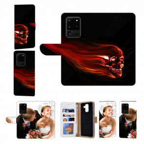 Samsung Galaxy S20 Ultra Handy Hülle mit Fotodruck Totenschädel