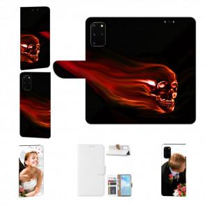 Samsung Galaxy M80s Handy Hülle mit Fotodruck Totenschädel Etui