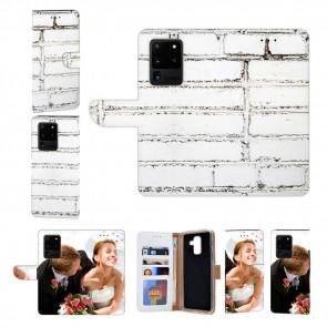 Samsung Galaxy S20 Ultra Handy Hülle mit Weiße Mauer Fotodruck Etui