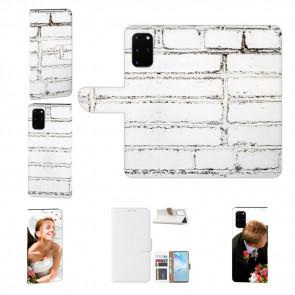 Handy Hülle mit Bilddruck Weiße Mauer für Samsung Galaxy S20 Etui