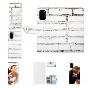 Samsung Galaxy S20 Plus Handy Hülle mit Fotodruck Weiße Mauer