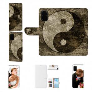 Handy Hülle mit Bild Druck Yin Yang für Samsung Galaxy A41Schutzhülle