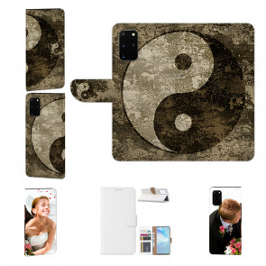 Schutzhülle Handy mit Bild Druck Yin Yang für Samsung Galaxy A51 Etui