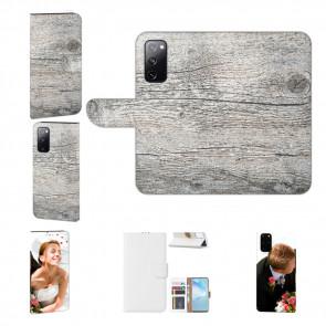 Personalisierte Handyhülle mit HolzOptik Grau Bilddruck für Samsung Galaxy A72 (5G)