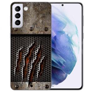 Samsung Galaxy S21 Silikon TPU Hülle mit Bilddruck Monster-Kralle