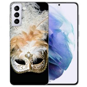 Samsung Galaxy S21 Silikon TPU Hülle Case mit Bilddruck Venedig Maske