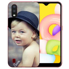 Samsung Galaxy A01 Silikon Schutzhülle TPU Case mit Foto Bilddruck