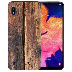 Silikon TPU Hülle mit Bilddruck HolzOptik für Samsung Galaxy A10