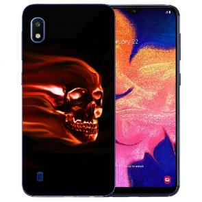 Samsung Galaxy A10 Silikon TPU Hülle mit Bilddruck Totenschädel
