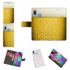 Samsung Galaxy A40 Schutzhülle Handy Tasche mit Bier Fotodruck