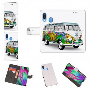 Samsung Galaxy A40 Personalisierte Handy mit Hippie Bus Fotodruck
