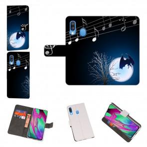 Handy Hülle mit Fledermaus- Mond + Fotodruck für Samsung Galaxy A40
