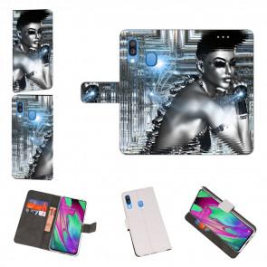 Personalisierte Handyhülle für Samsung Galaxy A40 mit Robot Fotodruck