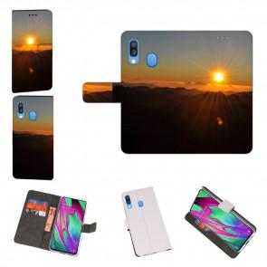 Huawei Y7 2019 / Y7 Prime 2019 Handyhülle mit Fotodruck Sonnenaufgang