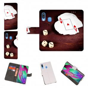 Samsung Galaxy A40 Handy Hülle mit Spielkarten - Würfel Foto Text Druck