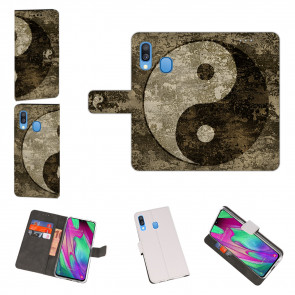 Samsung Galaxy A40 Schutzhülle Handy Hülle mit Yin Yang Foto Druck