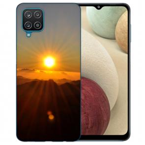 Samsung Galaxy A42 5G Silikon TPU Hülle mit Bilddruck Sonnenaufgang
