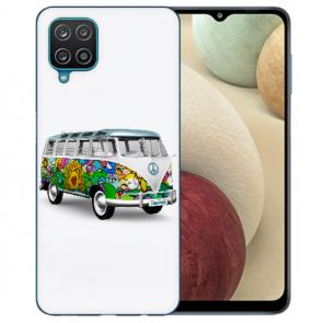 Samsung Galaxy A12 5G TPU Silikon Hülle mit Bilddruck Hippie Bus