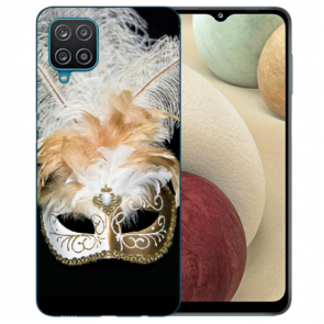 Samsung Galaxy A42 5G Silikon TPU Hülle mit Bilddruck Venedig Maske
