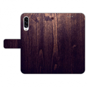 Personalisierte Handyhülle mit HolzOptik Dunkelbraun Bilddruck für Huawei Y6 Pro (2019)