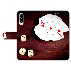 Samsung Galaxy A50 Schutz Hülle Handy mit Spielkarten -Würfel Bilddruck