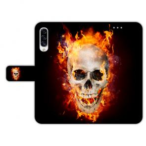 Samsung Galaxy A50 Individuelle Handy mit Totenschädel - Feuer Bilddruck