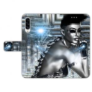 Samsung Galaxy A50 Personalisierte Handyhülle mit Robot girl Fotodruck