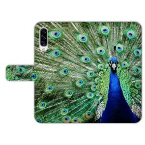 Personalisierte Handyhülle mit Pfau Bilddruck für Samsung Galaxy A50