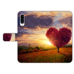 Schutzhülle Handyhülle für Samsung Galaxy A50 mit Herzbaum Fotoruck