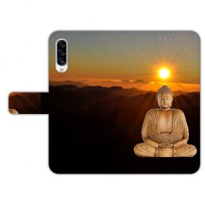 Samsung Galaxy A50 Handyhülle Tasche mit Frieden Buddha Fotodruck Etui