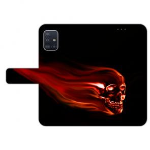 Handy Schutzhülle für Samsung Galaxy A41 mit Totenschädel Bild Druck