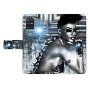 Samsung Galaxy A41 Handy Hülle Tasche mit Robot Girl Bilddruck Etui