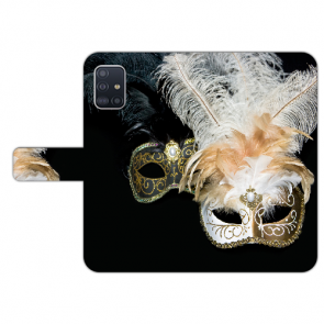 Samsung Galaxy A71 Handy Hülle Tasche mit Bilddruck Venedig Maske