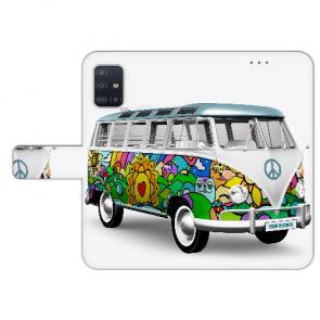 Samsung Galaxy A71 Handy Hülle Tasche mit Bilddruck Hippie Bus Etui